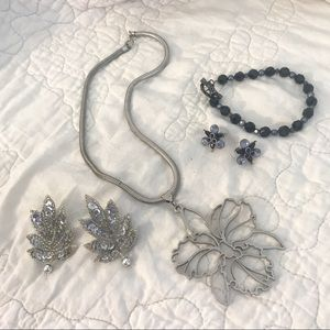 Jewelry - 💎 Silver & Black Colored Jewelry Lot